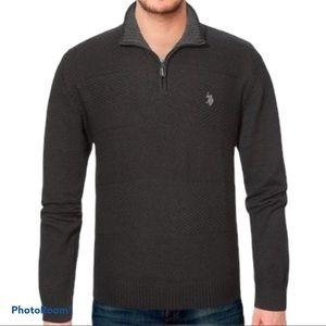 U.S. POLO ASSN. Grey Half-Zip Pullover